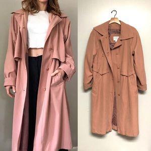Amazing! Blush pink 80's full length trench coat